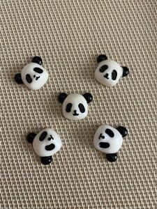 デコパーツ パンダ 5個