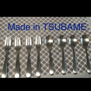 made in TSUBAME フォーク小4本、スプーン小4本