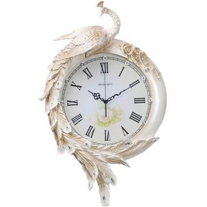 壁掛け時計 孔雀 鳥 動物 花 高級 豊富なデザイン おしゃれ 室内芸術13-3