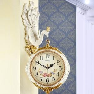 壁掛け時計 孔雀 鳥 動物 花 高級 豊富なデザイン おしゃれ 室内芸術8-3