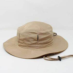 撥水加工 アドベンチャーハット 通気穴付き サファリハット ベージュ  fab 帽子