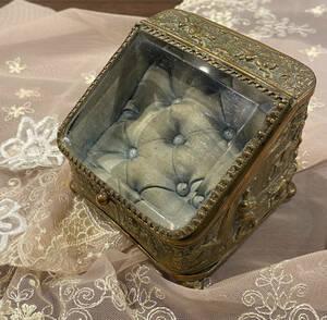 フランスアンティーク ジュエリーボックス 懐中時計ケース