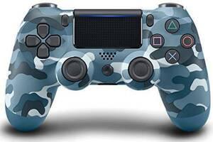 最新版 PS4 ワイヤレスコントローラー ブルー迷彩 Playstation4 プレステ4 互換品 多機能 DOUBLESHOCK4 新品未使用