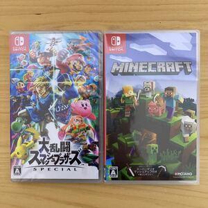 【新品未開封】大乱闘スマッシュブラザーズSPECIAL マインクラフト Minecraft Nintendo Switch セット