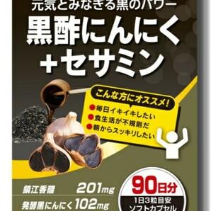 ISDG 黒酢にんにく + セサミン (270粒 90日分) 医食同源ドットコム 黒にんにく 黒ゴマ アミノ酸 アントシアニン