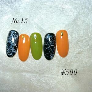 秋の手描きフラワーデザイン 秋ネイル ネイルチップ くすみカラー 手描きフラワー   ジェルネイル 付け爪