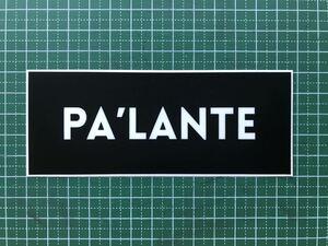 Pa'lante Packs ロゴステッカー パランテパックス