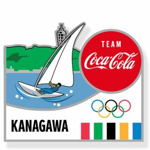 コカ・コーラ ピンバッチ 東京2020 オリンピック 神奈川県