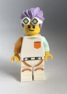 即決 新品 未使用 レゴ LEGO ミニフィギュア ミニフィグ シティ タウン パープルヘアの男の子