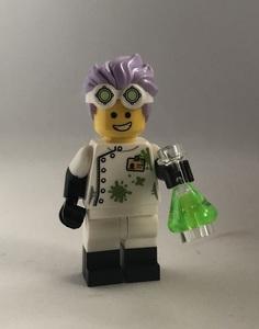 即決 未使用 レゴ LEGO ミニフィグ シティ ミニフィギュア  科学者 フラスコ パープルヘアー