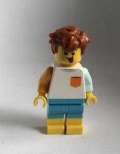 即決 新品 未使用 レゴ LEGO ミニフィグ ミニフィギュア くしゃくしゃヘアの男の子 シティ
