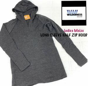 WILDERNESS WEAR ウィルダネスウェア 新品 レディース 長袖 U836 LONG SLEEVE HALF ZIP HOOD ロングスリーブ ハーフジップ polyPRO +190