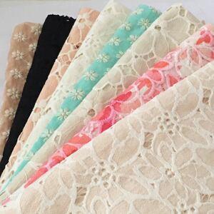 花刺繍 コットンレース生地 刺繍レース 綿レース 刺繍生地 マーガレット ハギレ