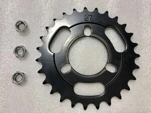 Pocket Vogel for driven sprocket high speed 27T nut attaching Kitaco made Monkey for base steel made postage included Yamaha