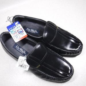 KK483 madras マドラス Do Walk 新品 定価10780円 黒 牛革モカスリッポンビジネスシューズ 24.0 4E 日本製