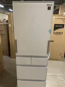 未使用展示品 SHARP 5ドア 冷凍冷蔵庫 SJ-G413G-W 2020年製 412L/プラズマクラスター ◆21年9月購入安心の6年保証付 長期無料保証