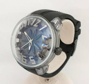 Tendence テンデンス TY023007 キングドーム 腕時計 黒 ブラック 花 フラワー