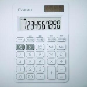 新品 キヤノン 電卓 10桁 ミニミニ卓上サイズ ホワイト