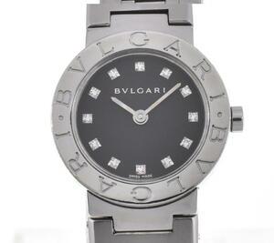 【BVLGARI】ブルガリ ブルガリブルガリ BB23SS 12Pダイヤモンド クォーツ レディース H#106534