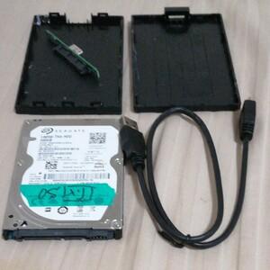 シーゲート500GB HDD+BUFFALO USB 3.1 SSD のケース