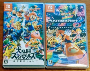 【期間限定】Nintendo Switch ソフト 大乱闘スマッシュブラザーズSPECIAL + マリオカート8デラックス【美品】