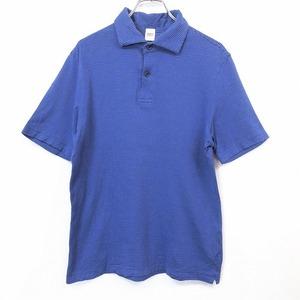 TAKEO KIKUCHI タケオキクチ 3 メンズ 男性 ポロシャツ カットソー Tシャツ生地 ドット柄 ポケット無し 半袖 日本製 綿100% ブルー系 青系