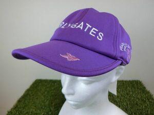 【美品】PEARLY GATES(パーリーゲイツ) キャップ 紫 レディース S ゴルフ用品 1912-0217 中古