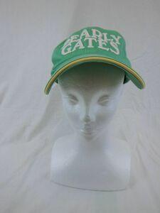PEARLY GATES(パーリーゲイツ) キャップ 緑 メンズ フリーサイズ ゴルフ用品 1907-0589 中古
