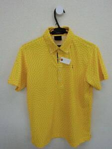 le coq sportif(ルコックスポルティフ) ポロシャツ 黄色総柄 メンズ M ゴルフウェア 2005-0297 中古