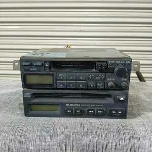 スバル SUBARU BG9 前期 レガシー Legacy CD テープ FM AM ラジオ 純正  ジャンク品