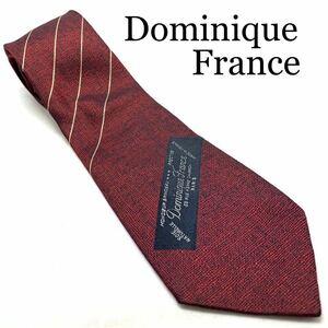 Dominique France ドミニク フランス トリプルクラウン えんじ ストライプ ネクタイ ハイブランド 高級 ビジネス ネクタイコーデ