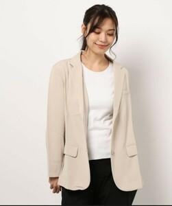 スーツ ジャケット 麻調素材テーラードジャケット Mサイズ ベルーナプラス BELLUNA PLUS ベージュ