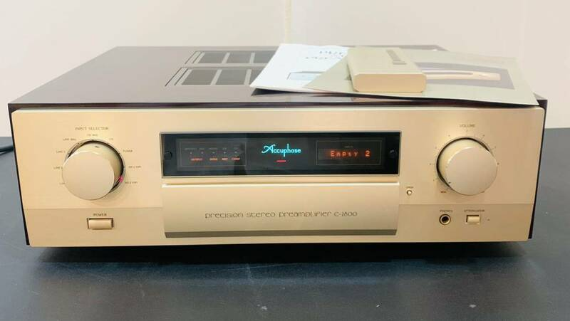 k107必見! Accuphase アキュフェーズ C-2800 プリアンプ リモコン 取扱説明書付き 中古美品 通電確認済み