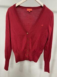 Vivienne Westwoodヴィヴィアンウエストウッドカーディガン赤ロゴ