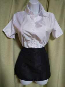 OL スカート ブラウス スーツ L~LLサイズ コスプレ 超ミニスカート 新品未使用未開封