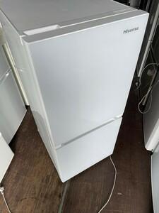 ハイセンス  2ドア冷蔵庫134L 2019年製 ガラスホワイト HR-G13A