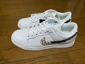 28.5㎝ Nike Wmns Dunk Low SE White Animal Swoosh ナイキ ウィメンズ ダンク ロー SE ホワイト アニマル スウッシュ 国内正規品
