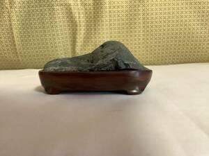 保管番10-1 小さな 自然石 水石 鑑賞石 ミニ山形石 黒石 およそ8.5cmx4cmx5.5cm 160g