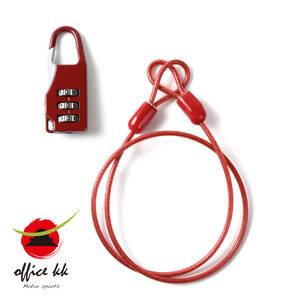 ヘルメットホルダー / ワイヤーロック / ツーリング荷物 / 簡易ロック / 盗難防止 / ロング50cm
