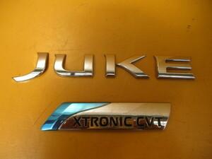 ジューク JUKE F15 YF15 前期 純正リアバンパー エンブレム 左右 2点 85022 1KA4H