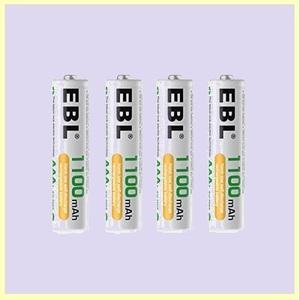 ☆★この時期限定★☆新品☆未使用★ 単4形充電池 EBL H-Y9 単4電池充電式 防災電池 充電式ニッケル水素電池 高容量1100mAhバッテリ