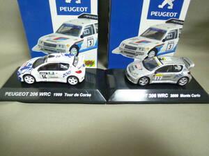 CM's 1/64 プジョー 206 WRC ツール・ド・コルス 1999 モンテカルロ 2000 ラリーカーコレクション
