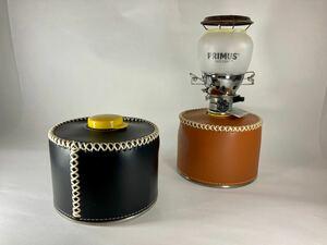 OD缶カバー レザー ブラウンとブラック 250サイズ用 2個セット