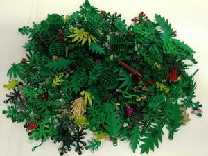 LEGO 草 花 木 葉っぱ ヤシの木 植物パーツ 300g以上 大量 まとめ売り ※緑色 ツタ サボテン 街路樹 ワカメ 部品取り パーツ取りレゴ