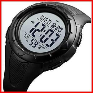 【最安】Timever(タイムエバー)デジタル腕時計 ★色:ブラック2★ ストップウォッチ MM-10 多機能付き スポーツ うで時計 アラーム メンズ