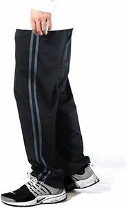 ブラック/チャコール 5L [ステイランド] ジャージパンツ ジャージズボン ストレート ロング 無地 サイドライン メンズ