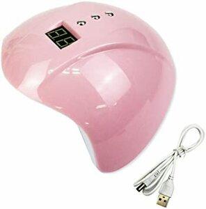 ピンク MUGEN ネイル LEDライト 硬化 ネイルドライヤー ジェルネイル UVライト 3段階タイマー ネイル道具 (ピンク