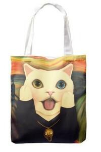 ねこ 猫 トートバッグ エコバッグ ショッピングバッグ