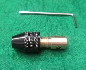 小型ドリルチャック0.3mm~3.5mmのドリルを挟めますモーター側穴直径3.17mm送料全国一律普通郵便120円