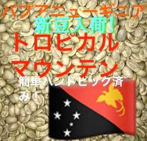 新豆入荷!トロピカルマウンテン200gコーヒー生豆!焙煎しておりません!簡単なハンドピック済みです!